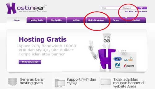 hosting gratis indonesia