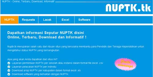 nuptk online